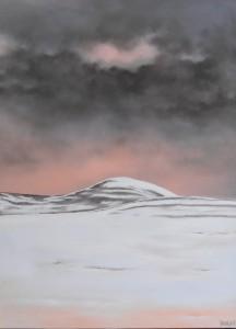 Bjerg i Norge - 2015 - 80X60 - Olie på lærred - 4500 kr.