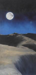 Øerkenmånen - 1986 - 125X63 - Olie på træplade - Privat eje