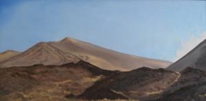 Teide - 1988 - 63X125 - Olie på træplade - Privat eje