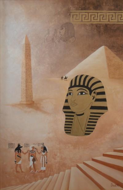Ægypten - 1996 - 61X40 - Olie på træplade - 4000 kr.