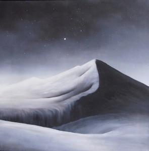 Sort bjerg - 2011 - 50X50 - Olie på lærred - Maleri haves ikke længere
