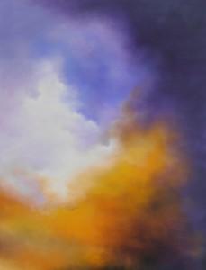 Himlens øje - 2012 - 80X60 - Olie på lærred - Maleri haves ikke længere