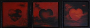 Tro, håb og kærlighed - 2012 - 3 stk - 20X20 - Olie på lærred - 3000 kr.